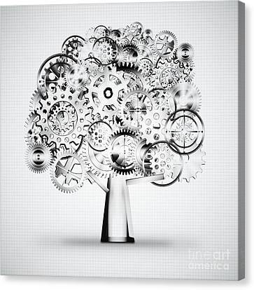 Tree Of Industrial Canvas Print by Setsiri Silapasuwanchai