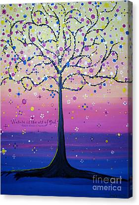 Tree Of Inspirations Canvas Print by Stacey Zimmerman