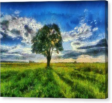 Canvas Print featuring the painting Tree Of Life by Joe Misrasi