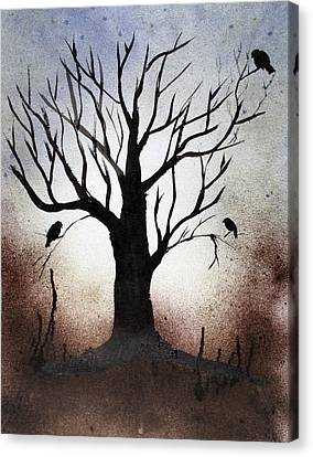 Tree Shadows Canvas Print