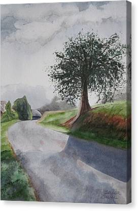 Canvas Print featuring the painting Tree by Teresa Beyer