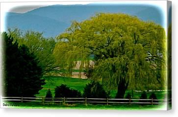 Granger Of Spring Life Canvas Print - Trees Gulp In The Color by Debra     Vatalaro