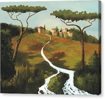 Trees Of Tuscany Canvas Print by Larry Cirigliano