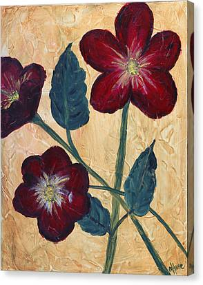 Tres Fleurs Canvas Print by Maureen House