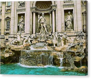 Trevi Fountain Canvas Print by Eric Tressler