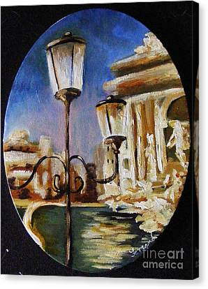 Trevi Fountain Canvas Print by Karen  Ferrand Carroll