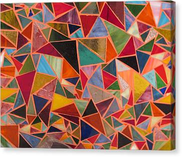 Triangles Canvas Print by Donna Moore