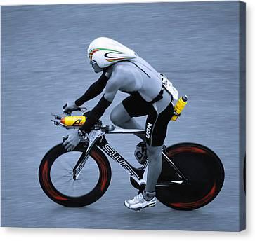 Triathlon Man Canvas Print by Ari Salmela