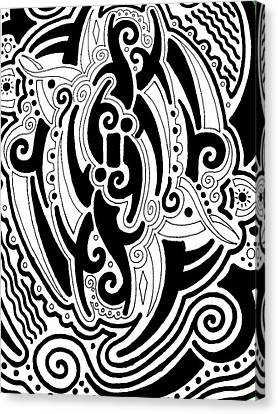 Tribal Canvas Print by Andrew Padula