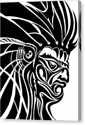 Tribal Leader Canvas Print