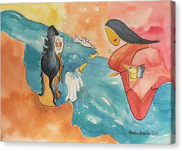 Canvas Print featuring the painting Tribute by Geeta Biswas