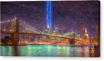 Tribute In Light Impasto Canvas Print by Clarence Holmes