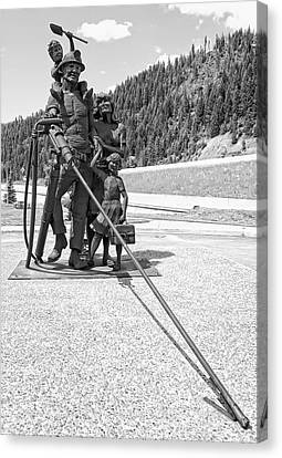 Tribute To The Mining Family - Wallace Idaho Canvas Print by Daniel Hagerman