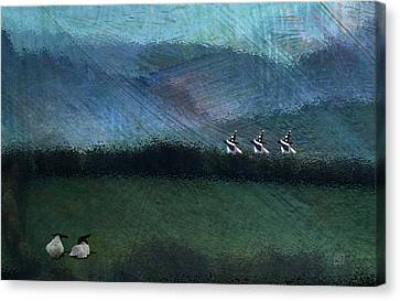 Canvas Print featuring the digital art Trick-o-treat Sheep by Jean Moore