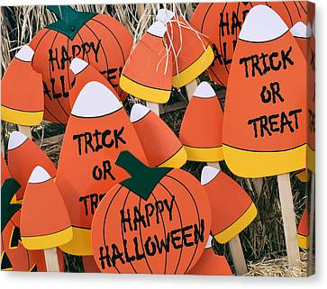 Trick Or Treat Happy Halloween Canvas Print by Julie Palencia