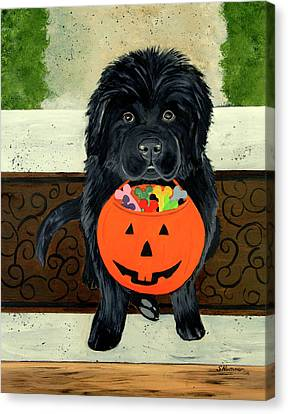 Trick Or Treat Canvas Print by Sharon Nummer