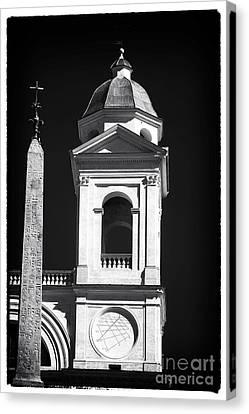 Trinita Church Tower Canvas Print by John Rizzuto