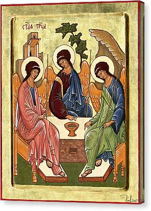 Canvas Print featuring the painting Trinity by Raffaella Lunelli