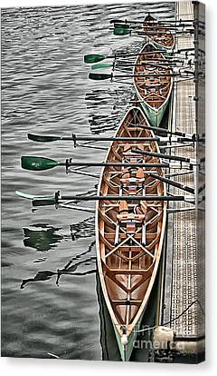 Canvas Print featuring the photograph Triple Sculls by Jack Torcello