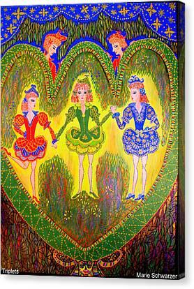 Triplet Canvas Print by Marie Schwarzer
