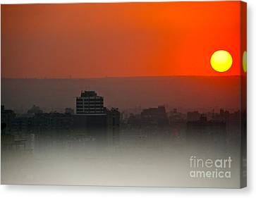 Canvas Print featuring the photograph Tripoli Harbor 2010 by Joan McArthur