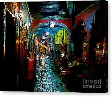 Canvas Print featuring the digital art Trippin In San Miguel by John  Kolenberg