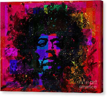 Tripping With Hendrix Canvas Print by Chris Mackie