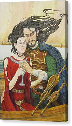 Tristan And Isolde Canvas Print by Judy Riggenbach