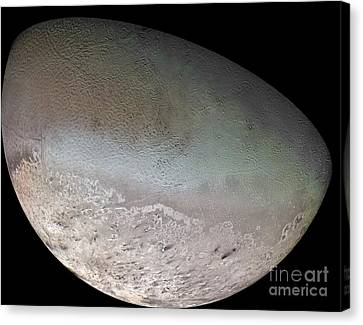 Triton, The Largest Moon Of Planet Canvas Print by Stocktrek Images