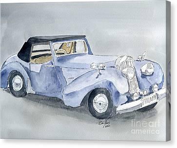 Triumph Roadster 45-49 Canvas Print by Eva Ason