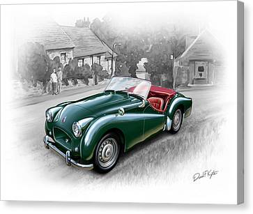 Triumph Tr-2 Sports Car Canvas Print by David Kyte