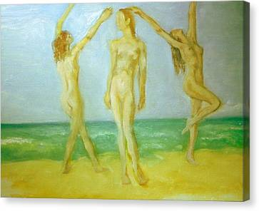 Trois Femmes Canvas Print