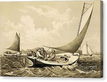 Trolling For Bluefish Canvas Print by Pg Reproductions