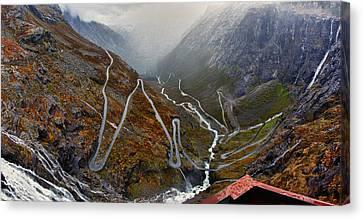 Trollstigen Canvas Print by A A
