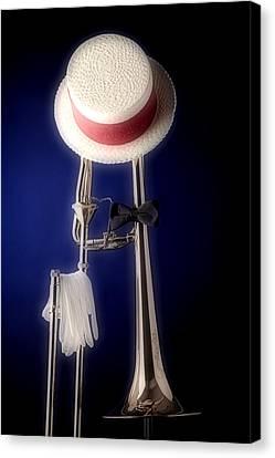 Trombone Hat Bow Tie Canvas Print by M K  Miller