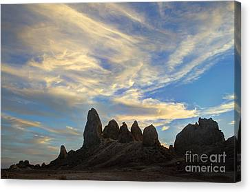 Trona Pinnacles Windswept Canvas Print by Bob Christopher