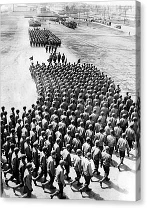 Troops Of The New 75th Infantry Canvas Print by Everett