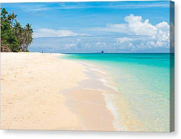 Canvas Print featuring the photograph Tropical Beach by Hans Engbers