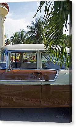 Tropical Chevy Canvas Print by Cheri Randolph