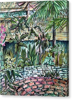 Tropical Garden Canvas Print by Mindy Newman