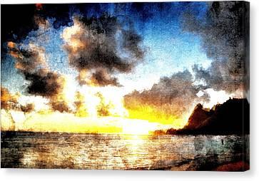 Canvas Print featuring the digital art Tropical Heaven by Andrea Barbieri
