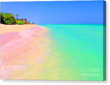 Tropical Island 7 - Painterly Canvas Print by Wingsdomain Art and Photography