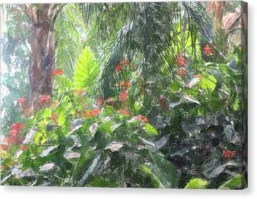 Canvas Print featuring the photograph Tropical Paradise by Donna  Smith