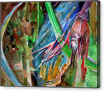 Tropical Reflections Canvas Print by Mindy Newman