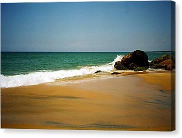 Tropical Sandy Beach Canvas Print by Jasna Buncic