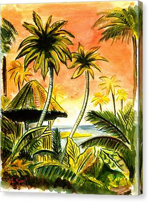 Tropical Skies Canvas Print by John Keaton