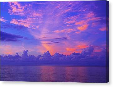 Canvas Print featuring the photograph Tropical Sunset 3- St Lucia by Chester Williams