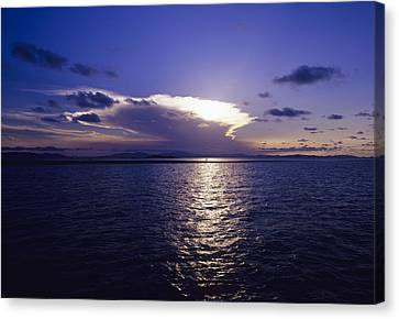 Tropical Sunset Canvas Print by Carlos Dominguez