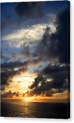 Tropical Sunset Canvas Print by Fabrizio Troiani