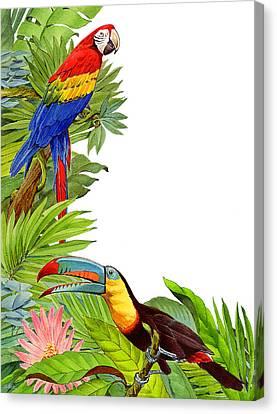 Tropical Tete A Tete Canvas Print by Shawn Shea